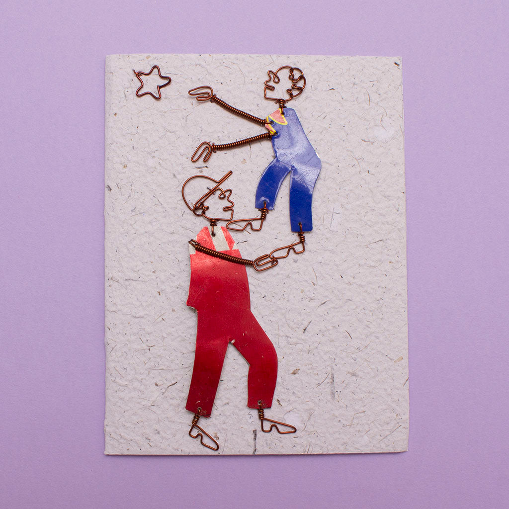 KICK Recycled Wire Card 'Reach for the Stars'