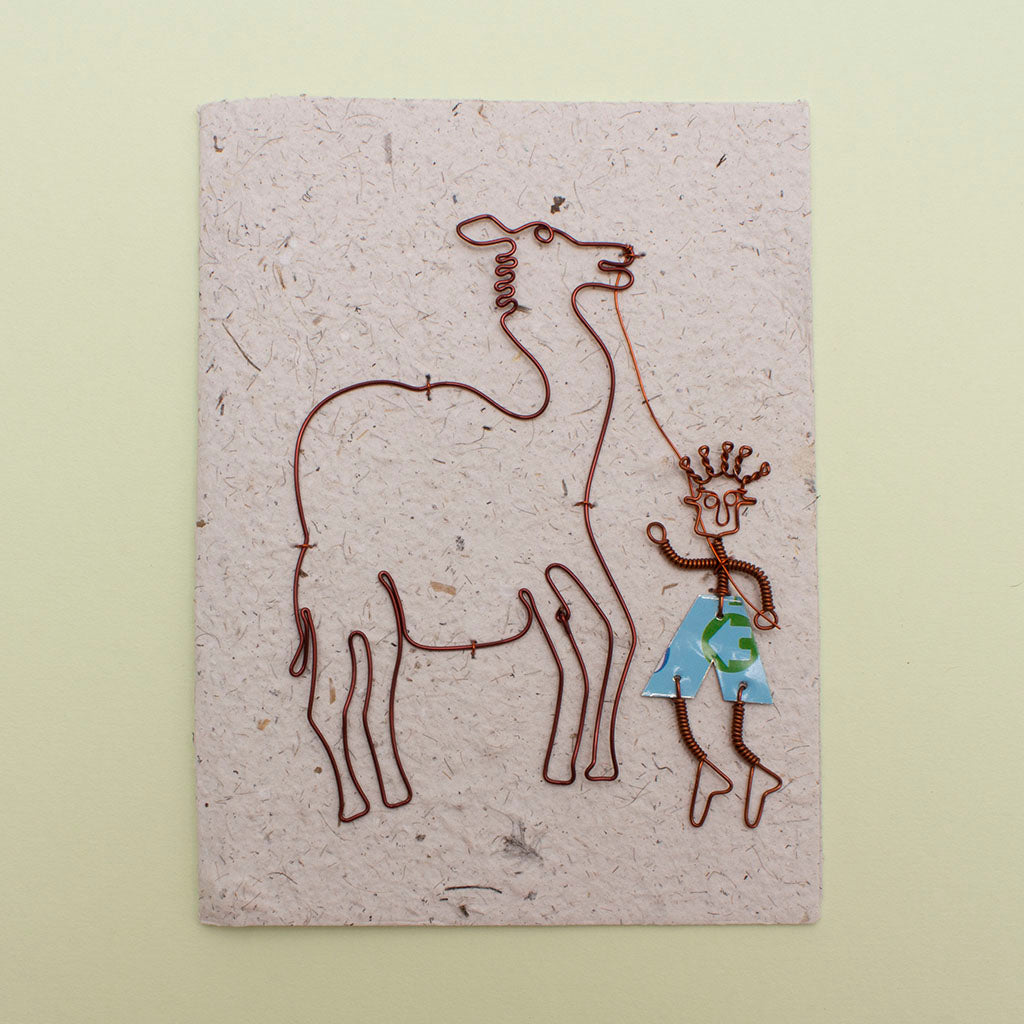 KICK Recycled Wire Card 'Walk the Camel'