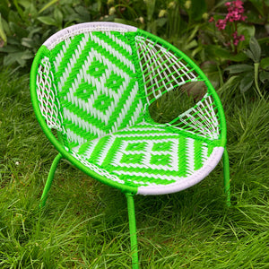 Senegalese Woven Children's Chair Lime Green