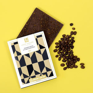 Love Cocoa 'Crushed Coffee 41% Milk Chocolate Bar'