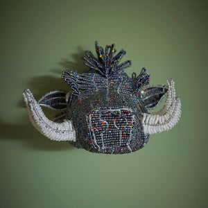 Zimbabwean Medium Beaded Wall Head Decoration 'Warthog'