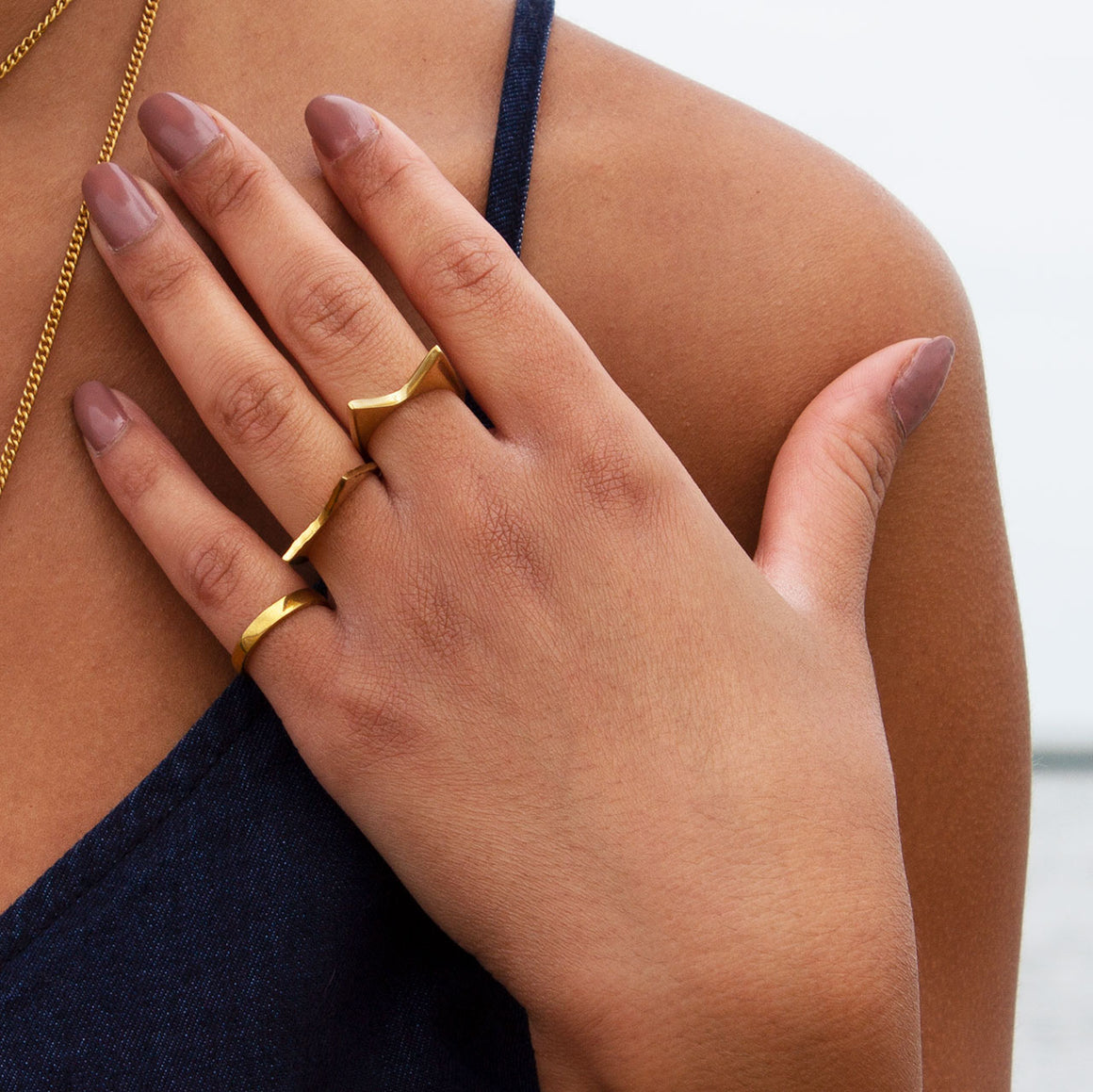 Signature Mamba Polished Brass Ring