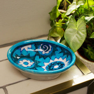 Jaipur Hand Painted Indian Soap Dish 'Monkey Puzzle'