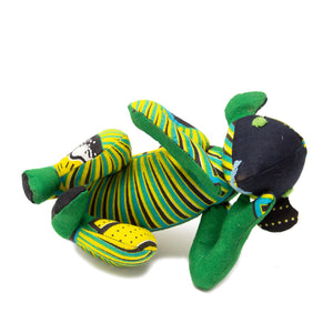 Kitenge Monkey 'Green & Yellow Stripes'