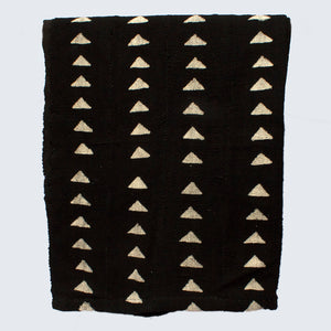 West African Bògòlanfini Mud Cloth 'White Triangles on Black'