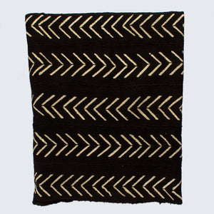 West African Bògòlanfini Mud Cloth 'White Arrows'