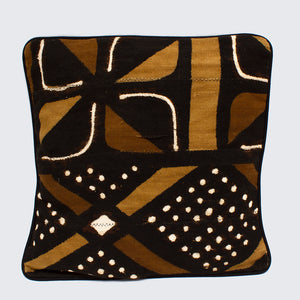 Mud Cloth 45cm x 45cm Piped Cushion Cover