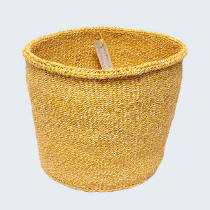 Kenyan Sisal Basket 'Mwavondo Yellow' No.59
