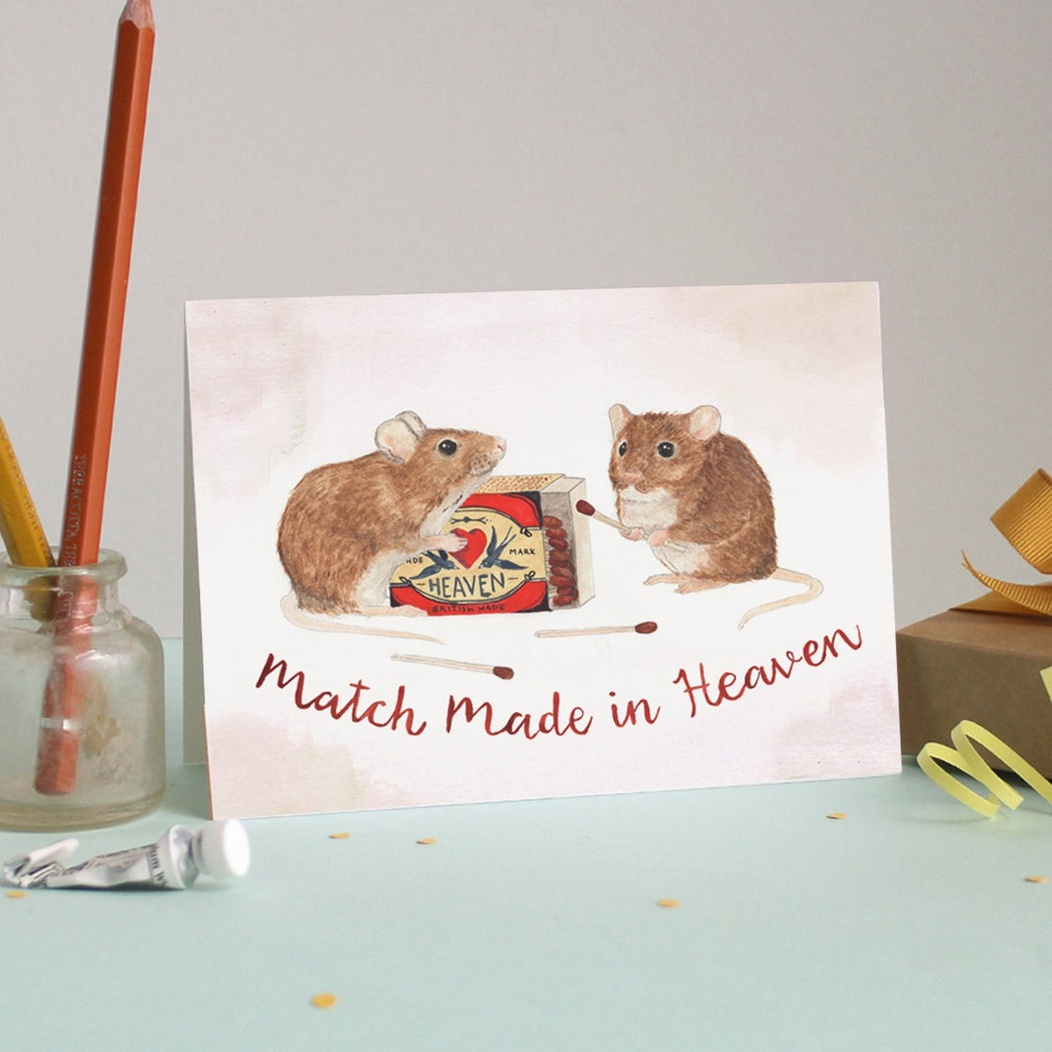 Mister Peebles Greeting Card 'Match Made In Heaven'