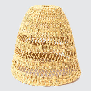 Ghanaian Hand Woven Open Weave Light Shade 'Natural'