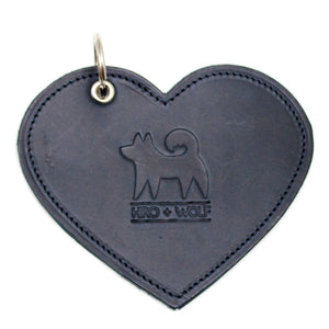 Poo Pouch Heart 'Navy Leather'