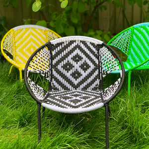 Senegalese Woven Children's Chair Black & White