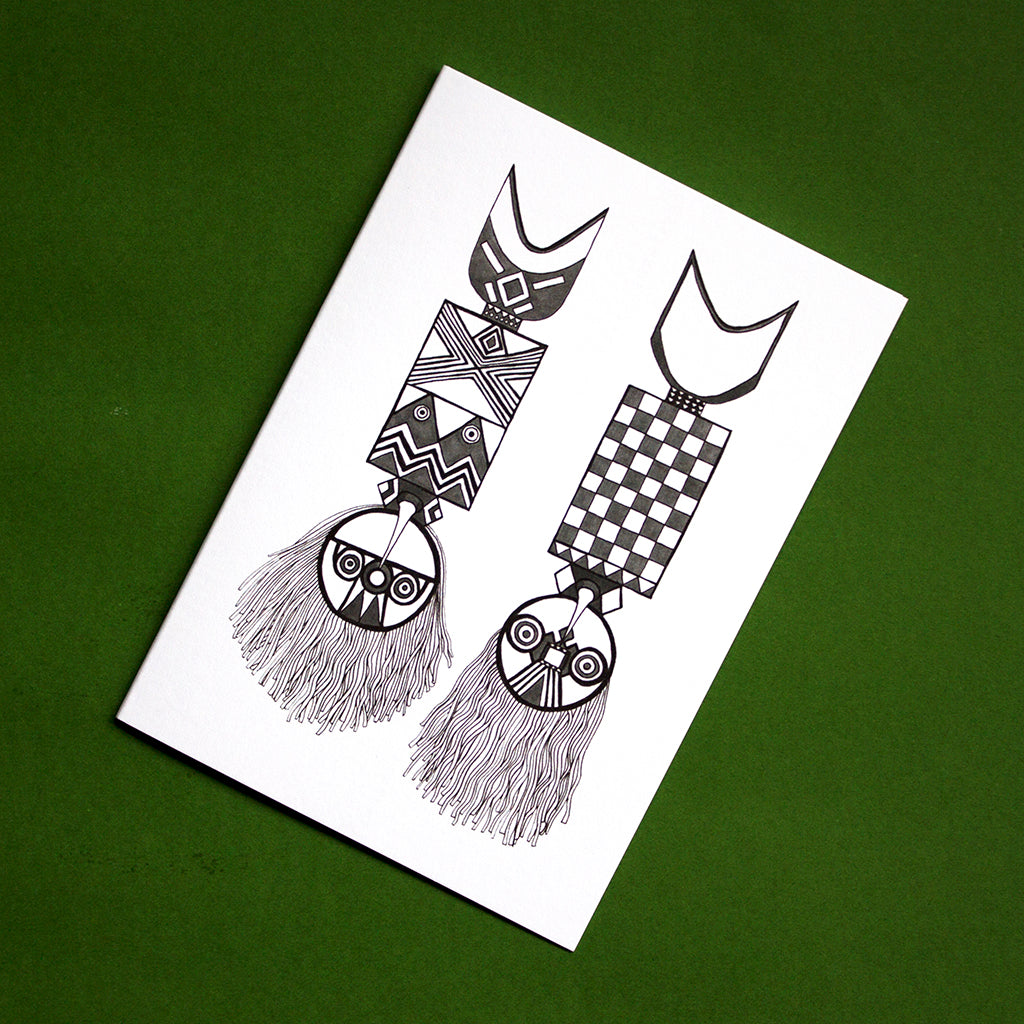 Nwantantay Plank Masks Greetings Card