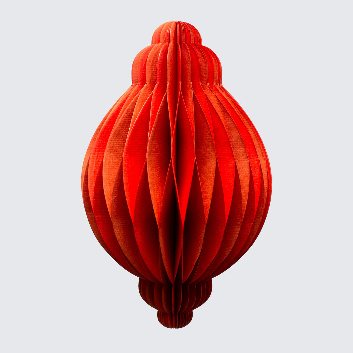 Indian Recycled Paper Decoration 'Large Orange Bauble'