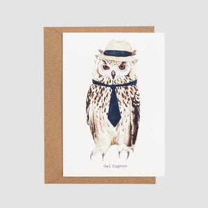 Mister Peebles Greeting Card 'Owl Capone'