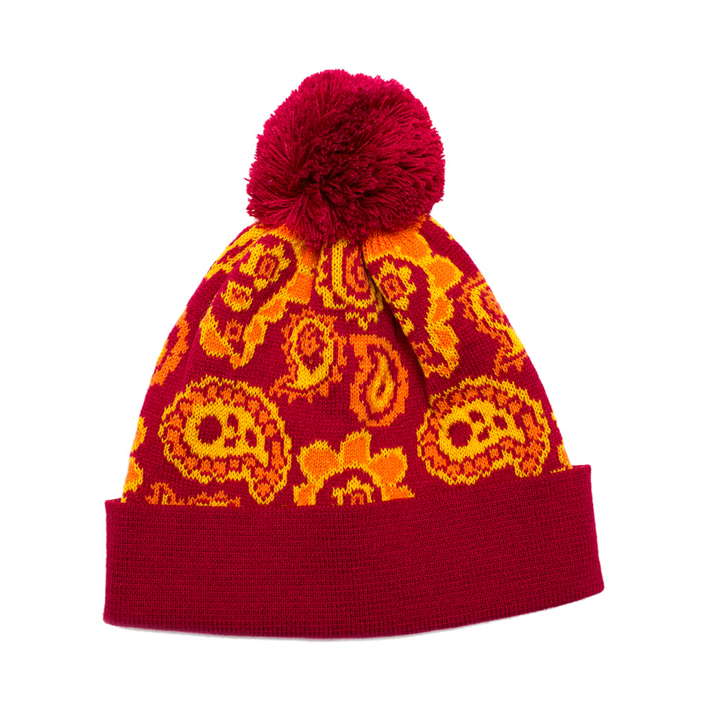 Paisley Knitted Bobble Hat