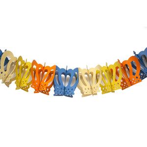 Indian Recycled Tissue Paper Garland 'Regal Crown'