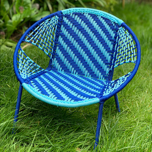 Senegalese Woven Children's Chair Blue