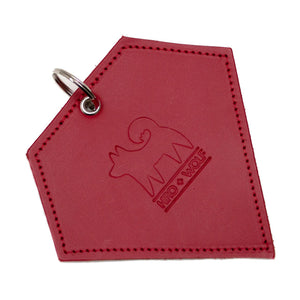 Poo Pouch Diamond 'Red Leather'