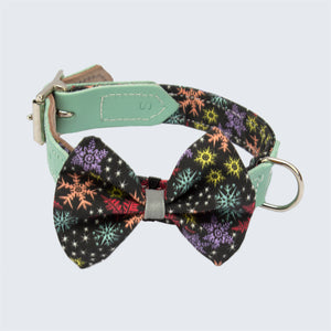 Christmas Snowflakes Dog Bow Tie