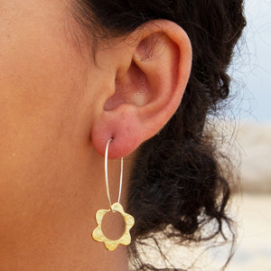 Solstice Small Charm Hoop Earrings