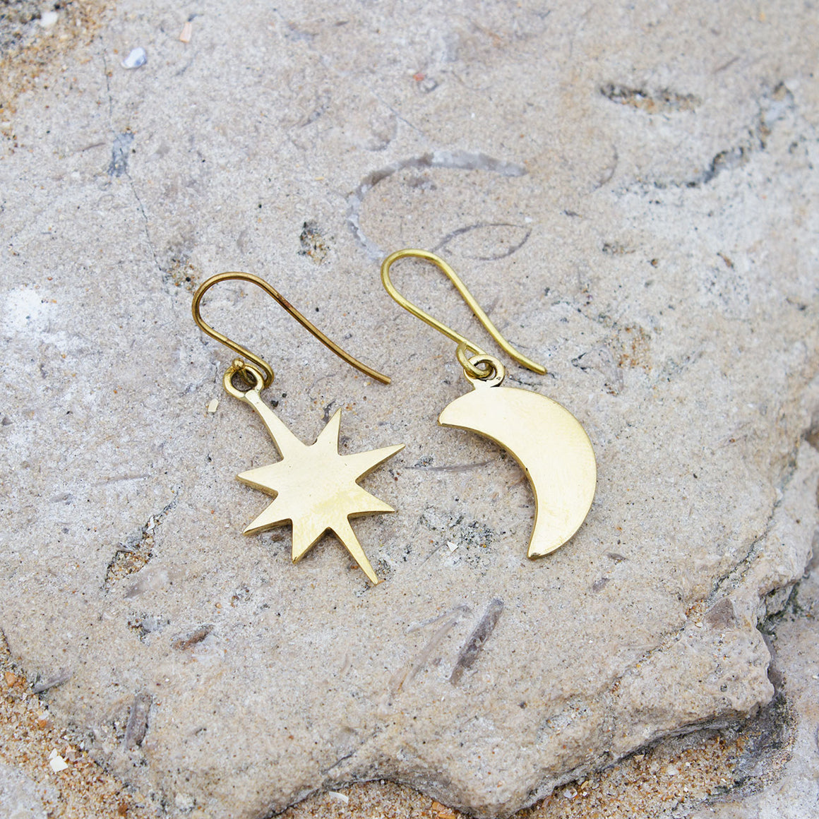 Star & Crescent Moon Hook Earrings