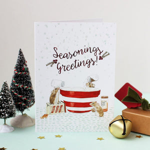 Mister Peebles Christmas Greeting Card 'Seasonings Greetings'