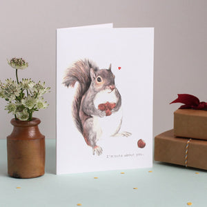 Mister Peebles Greeting Card 'Nuts About You'