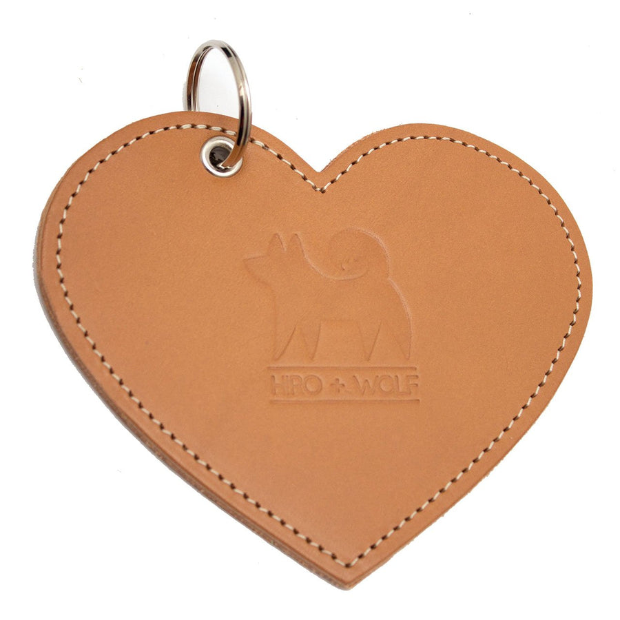 Poo Pouch Heart 'Tan Leather'
