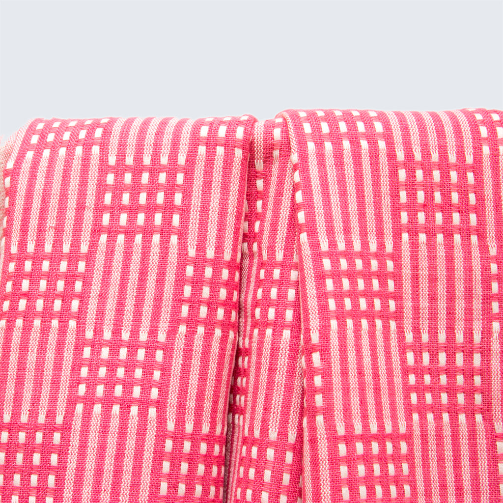 Tanzanian Table Cloth 'Rose Pink Grid'