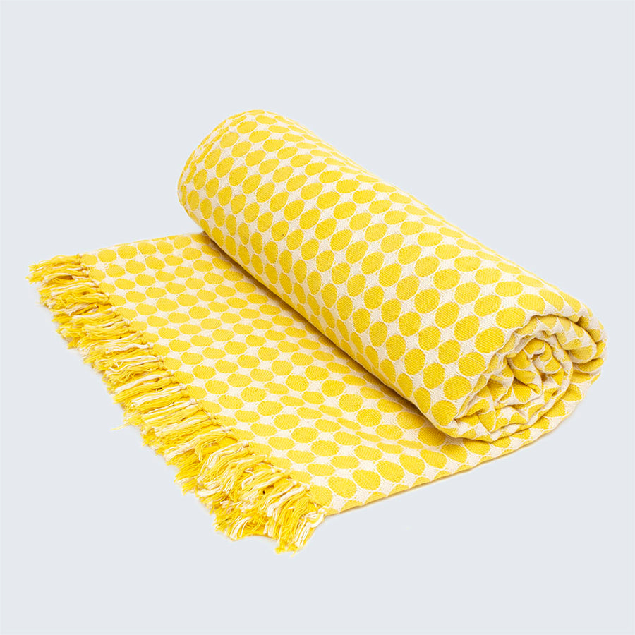 Tanzanian Hand Woven Throw 'Sunshine Yellow'