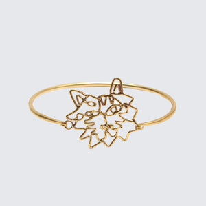 Tiger Line Bangle Brass