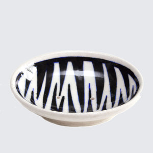 Jaipur Hand Painted Indian Soap Dish 'Tiger Stripes'