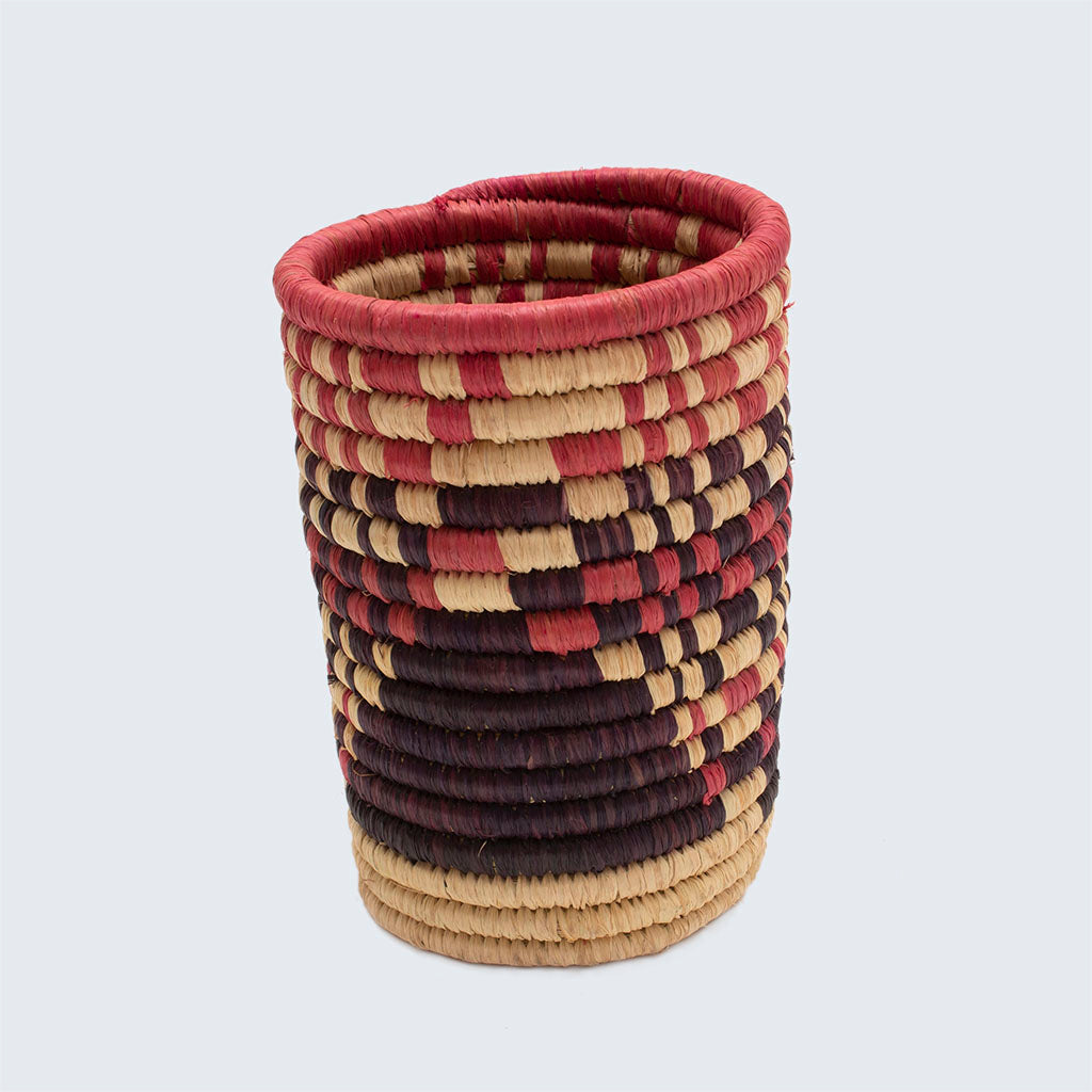 Uganda Craft Collection Pen Pot 'Pink Maze'