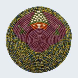 Uganda Craft Collection Plate 'Forest House'