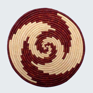 Uganda Craft Collection Plate 'Whirlpool'