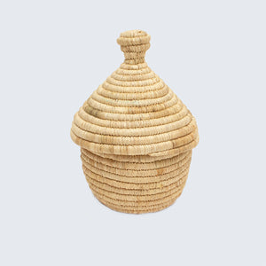 Uganda Craft Collection Small Lidded Pot 'Natural'