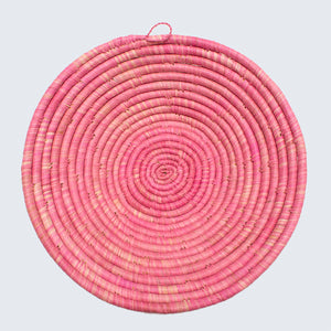 Uganda Craft Collection Basket Bowl 'Pink Fruitbowl'