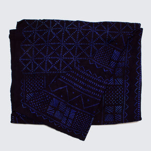 West African Bògòlanfini Mud Cloth 'Village Indigo'