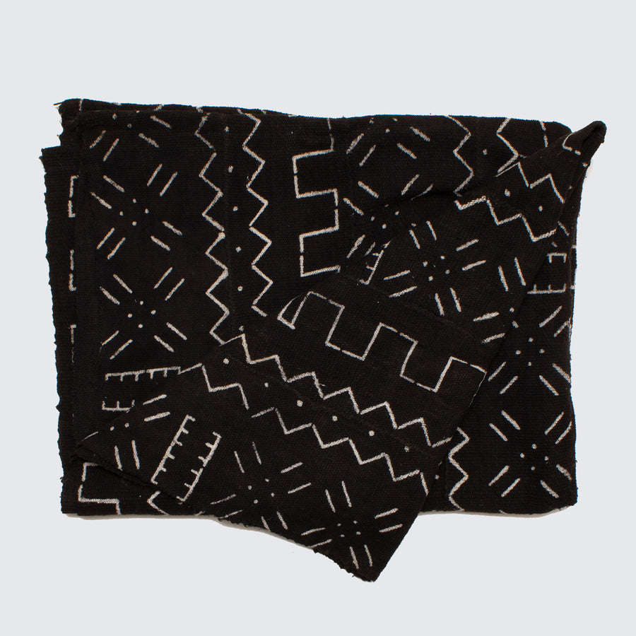 West African Bògòlanfini Mud Cloth 'Village Market'