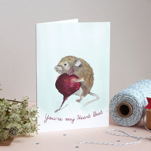 Mister Peebles Greeting Card 'You're My Heart Beet'
