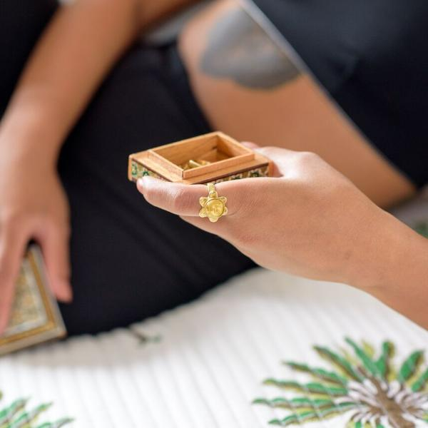 Artisans & Adventurers Solstice Ring Recycled Brass - handmade in Kenya