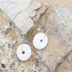 Zawadi Earrings Ceramic 'White'