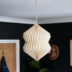 Indian Recycled Paper Diablo Light Shade 'Natural Calico'