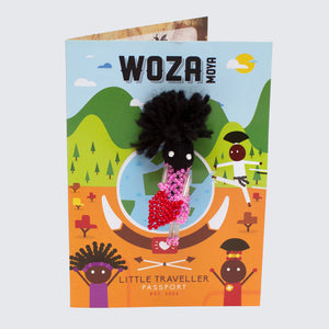 WOZA MOYA Little Traveller Pin Brooch 'Woman with Heart'