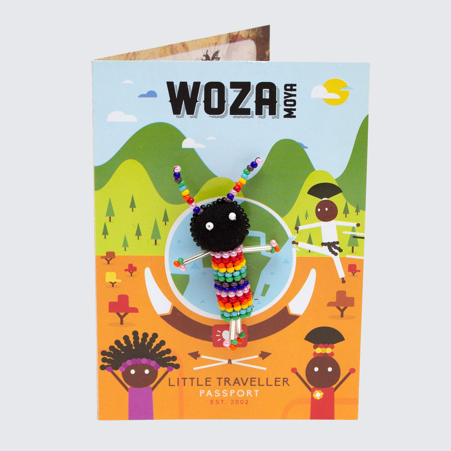 WOZA MOYA Little Traveller Pin Brooch 'Rainbow Bee'
