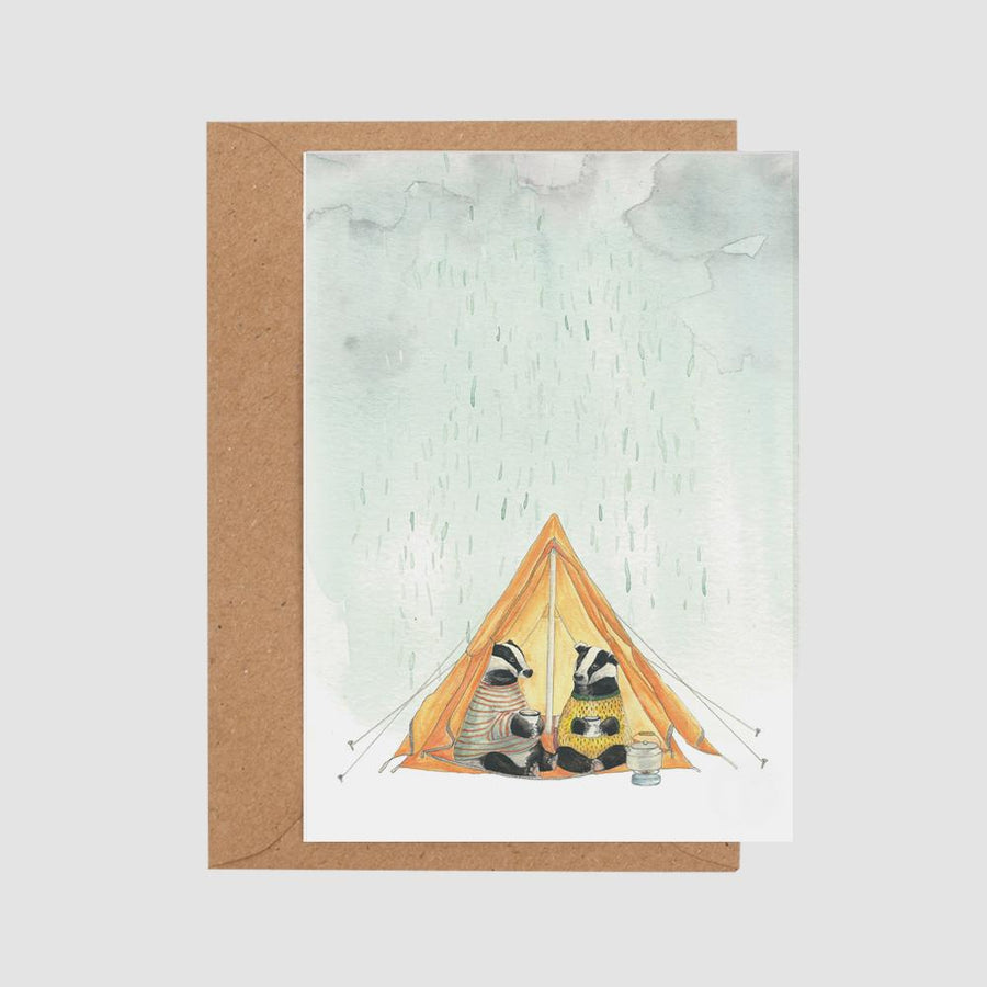 Mister Peebles Greeting Card 'Weather or not'