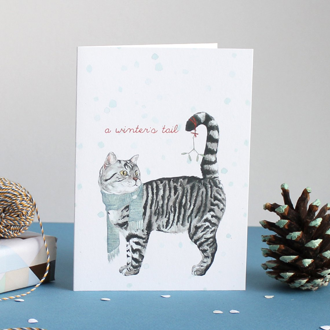 Mister Peebles Christmas Greeting Card 'A Winters Tail'