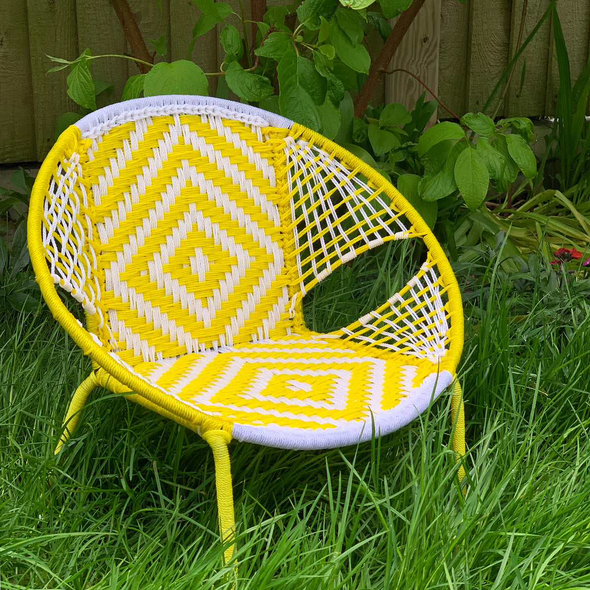 Senegalese Woven Children's Chair Yellow
