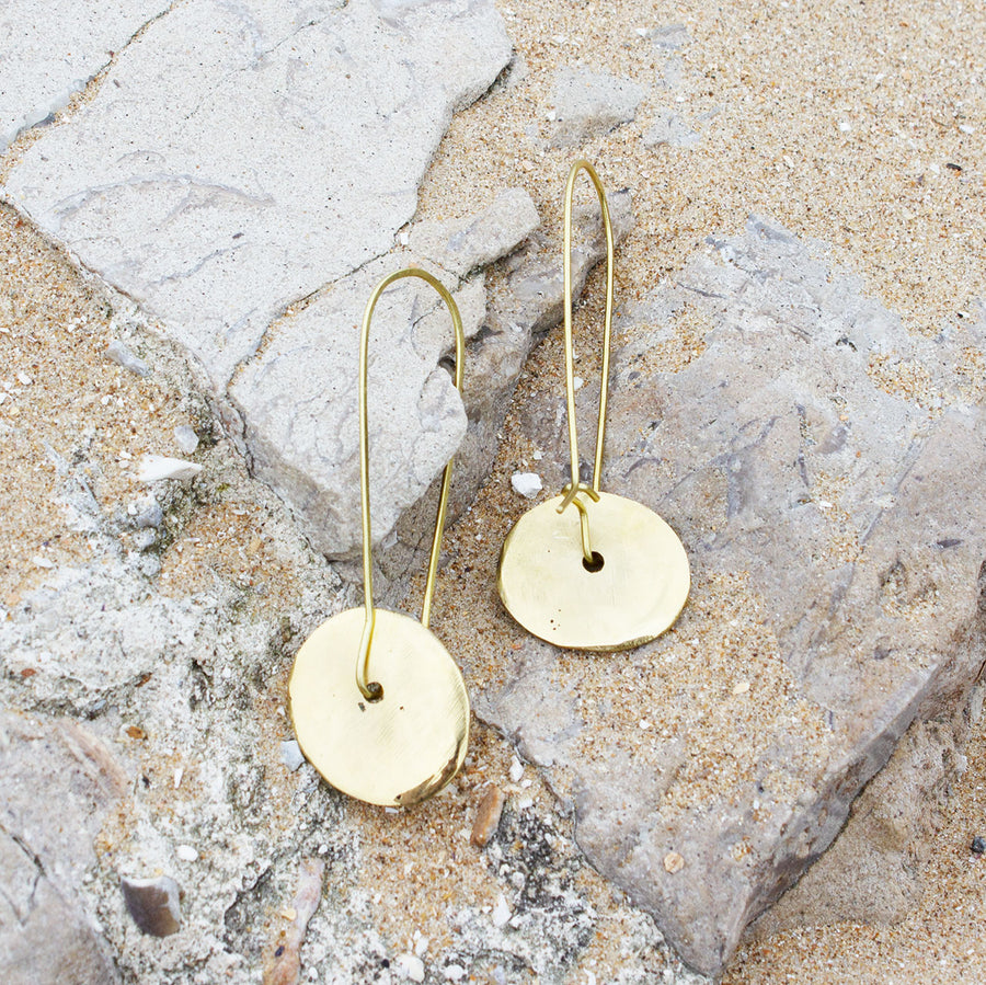 Zawadi Earrings Brass